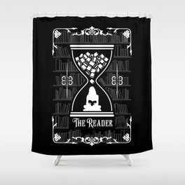 The Reader Tarot Card Shower Curtain