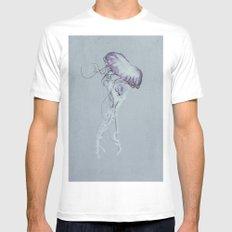 Jellyfish Black and White Mens Fitted Tee MEDIUM White