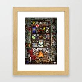 Creepy Cabinet of Curiosities Framed Art Print