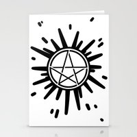 supernatural Stationery Cards featuring Supernatural  by Elisehill3