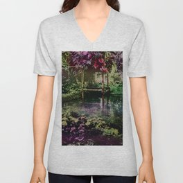 Tropical Pool Garden Unisex V-Neck