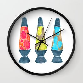 Retro Vibes – Primary Palette Wall Clock