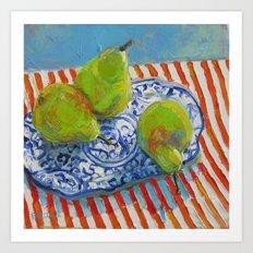 Monday Pears Art Print