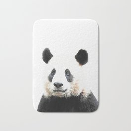 Panda Watercolor Panda Bear Portrait Bath Mat