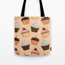 Cupcake Pattern Tote Bag