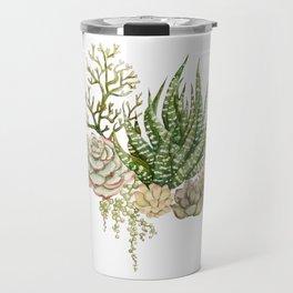 Succulent Bouquet Travel Mug