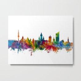 Leipzig Germany Skyline Metal Print