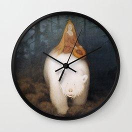 """The White Bear"" by Theodor Kittelsen Wall Clock"