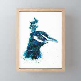Peacock Watercolour Painting Print by Bonnie Dixson, Art, Animal Art, Home Decor Framed Mini Art Print