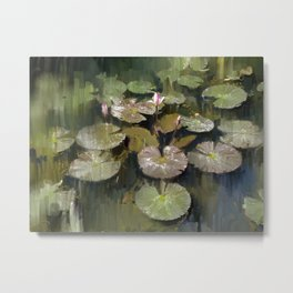 Lotus Pond 3 Metal Print