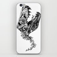 trex iPhone & iPod Skins featuring Jurassic Bloom - The Rex.  by Sinpiggyhead