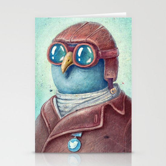 Pilot Captain Ivan Twittor Stationery Cards