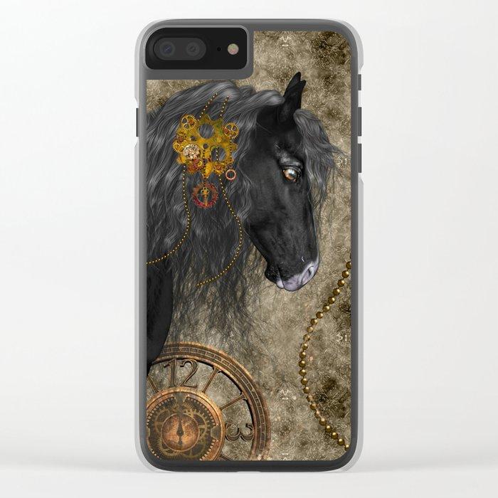 Beautiful wild horse Clear iPhone Case
