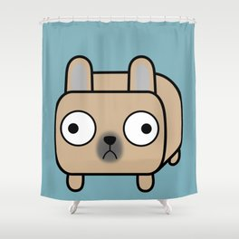 French Bulldog Loaf - Fawn Frenchie Shower Curtain
