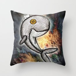 Woody the Whale Throw Pillow