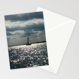 """""""Lake Erie Sailboat"""" photography by Willowcatdesigns Stationery Cards"""