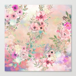 Botanical Fragrances in Blush Cloud Canvas Print