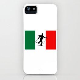 Italy Skiing Winter Sports Gift iPhone Case