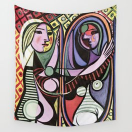 Pablo Picasso Girl before a Mirror 1932 Artwork Reproduction, Tshirts, Prints, Poster, Bags, Men, Wo Wall Tapestry