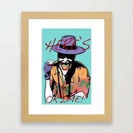 killing joker quote Framed Art Print