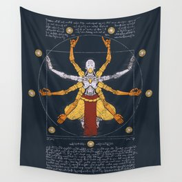 Vitruvian Omnic - color version Wall Tapestry