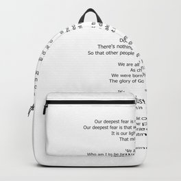 Our Deepest Fear Poem 2 #minimalist #quotes Backpack