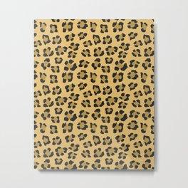 Leopard Print - Wild Anmals skin Metal Print