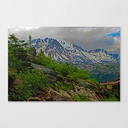White Pass Rail Canvas Print