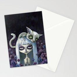 Felina de los muertos Stationery Cards