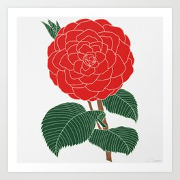 Red Dahlia Art Print
