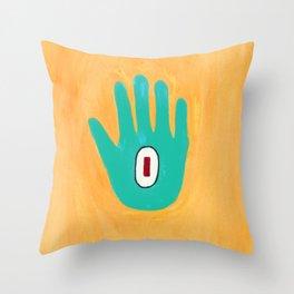 Bold And Brash Hamsa Evil Eye Throw Pillow