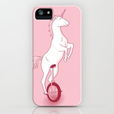 Unicorn on a unicycle - pink iPhone (5, 5s) Slim Case