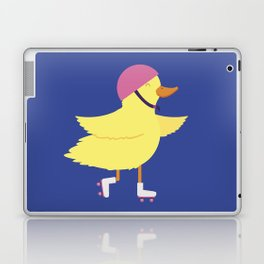 Duck on Roller Skates Laptop & iPad Skin