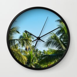 Airplane Between Trees  Wall Clock