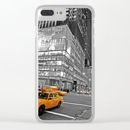 NYC Yellow Cabs Lehman Brothers - USA Clear iPhone Case