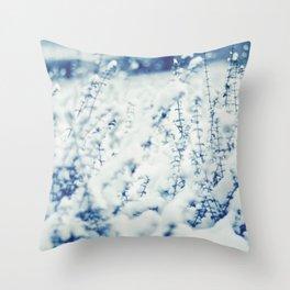 Blue Winter Throw Pillow