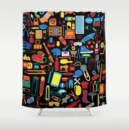 All things matter (Black) Shower Curtain