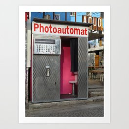 Old photo booth in Berlin, Germany Art Print