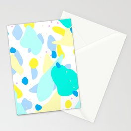 Abstract pattern blue yellow Stationery Cards