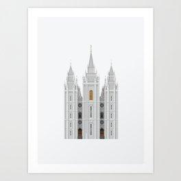 Salt Lake Temple Art Print