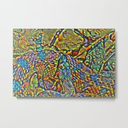 Colorful Scales Metal Print