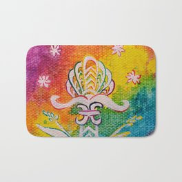 Leaves on the World Tree: Assyrian Tree of Life with Jasmine and Barley Bath Mat