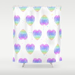 Glittering heart Shower Curtain