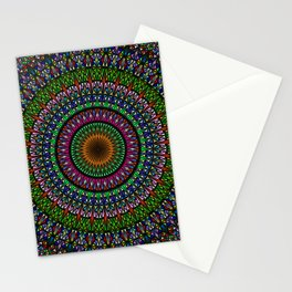 Hypnotic Church Window Mandala Stationery Cards
