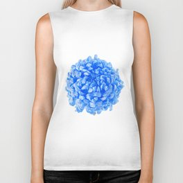 Blue Pop Art Inspired Flower Biker Tank