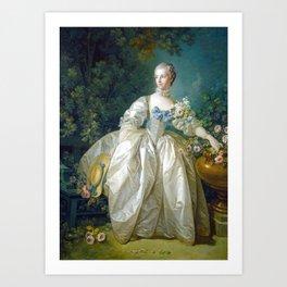 François Boucher Madame Bergeret Art Print