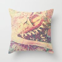converse Throw Pillows featuring Converse by Nechifor Ionut