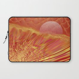 Pink and Yellow Moon Laptop Sleeve