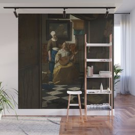 Johannes Vermeer - The Love Letter Wall Mural