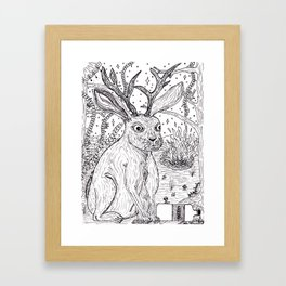 Drunk Jackalope Framed Art Print
